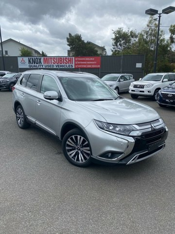 Used Mitsubishi Outlander ZL MY19 Exceed AWD Wantirna South, 2018 Mitsubishi Outlander ZL MY19 Exceed AWD Billet Silver 6 Speed Constant Variable Wagon