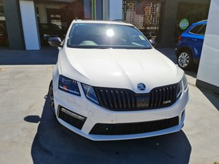 2019 Skoda Octavia NE MY20.5 RS DSG 245 Candy White 7 Speed Sports Automatic Dual Clutch Wagon.