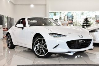 2020 Mazda MX-5 ND GT RF SKYACTIV-MT White 6 Speed Manual Targa.