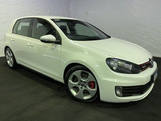 2011 Volkswagen Golf VI MY11 GTI DSG White 6 Speed Sports Automatic Dual Clutch Hatchback.