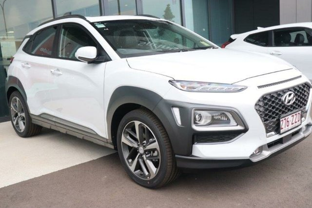 Used Hyundai Kona OS.3 MY20 Highlander 2WD Augustine Heights, 2020 Hyundai Kona OS.3 MY20 Highlander 2WD Chalk White 6 Speed Sports Automatic Wagon