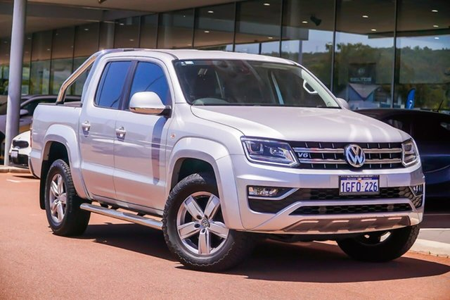Used Volkswagen Amarok 2H MY17 TDI550 4MOTION Perm Highline Gosnells, 2017 Volkswagen Amarok 2H MY17 TDI550 4MOTION Perm Highline Silver 8 Speed Automatic Utility
