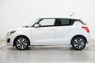 2018 Suzuki Swift AZ GLX Turbo White 6 Speed Sports Automatic Hatchback.