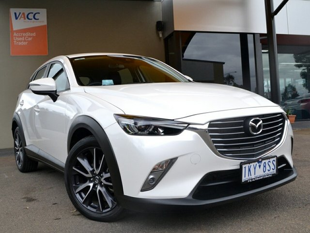 Used Mazda CX-3 DK2W7A sTouring SKYACTIV-Drive Fawkner, 2017 Mazda CX-3 DK2W7A sTouring SKYACTIV-Drive White 6 Speed Sports Automatic Wagon