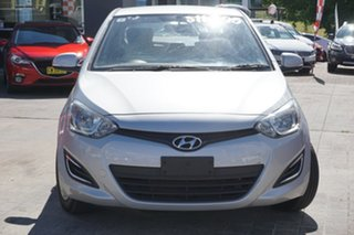2015 Hyundai i20 PB MY15 Active Silver 4 Speed Automatic Hatchback.