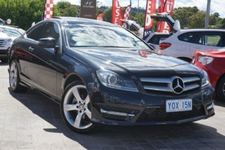 2014 Mercedes-Benz C-Class C204 MY14 C250 7G-Tronic + Black 7 Speed Sports Automatic Coupe.
