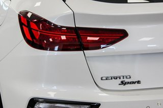 2020 Kia Cerato BD Sport White Sports Automatic Hatchback.