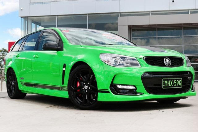 Used Holden Commodore VF II MY17 SS V Sportwagon Redline Liverpool, 2017 Holden Commodore VF II MY17 SS V Sportwagon Redline Spitfire Green 6 Speed Sports Automatic