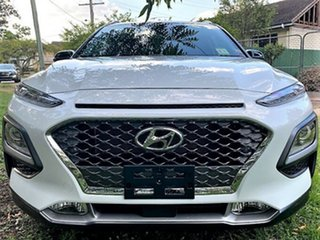 2020 Hyundai Kona OS.3 MY20 Highlander 2WD Chalk White & Black Roof 6 Speed Sports Automatic Wagon.