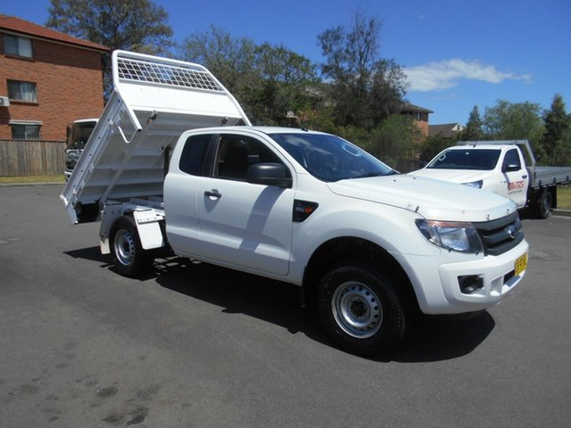 Used Ford Ranger PX XL 2.2 Hi-Rider (4x2) Bankstown, 2014 Ford Ranger PX XL 2.2 Hi-Rider (4x2) White 6 Speed Automatic Super Cab Chassis
