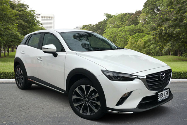 Demo Mazda CX-3 DK2W7A sTouring SKYACTIV-Drive FWD Paradise, 2020 Mazda CX-3 DK2W7A sTouring SKYACTIV-Drive FWD White Pearl 6 Speed Sports Automatic Wagon