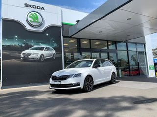 2019 Skoda Octavia NE MY19 Sport DSG 110TSI White 7 Speed Sports Automatic Dual Clutch Wagon.