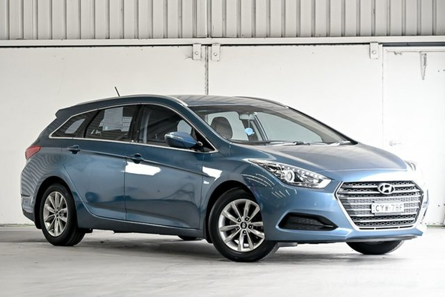 Used Hyundai i40 VF4 Series II Active Tourer D-CT Laverton North, 2015 Hyundai i40 VF4 Series II Active Tourer D-CT Blue 7 Speed Sports Automatic Dual Clutch Wagon