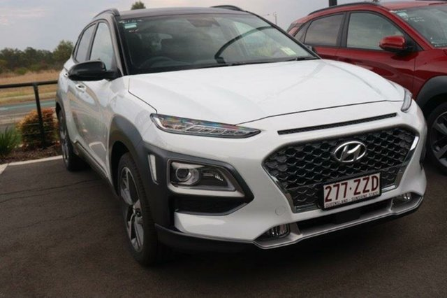 Used Hyundai Kona OS.3 MY20 Highlander 2WD Augustine Heights, 2020 Hyundai Kona OS.3 MY20 Highlander 2WD Chalk White & Black Roof 6 Speed Sports Automatic Wagon