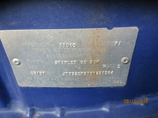 1997 Toyota Starlet EP91R Life Blue 5 Speed Manual Hatchback
