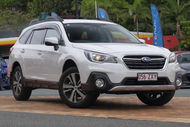 Demo Subaru Outback B6A MY20 2.5i CVT AWD Vision Plus Newstead, 2020 Subaru Outback B6A MY20 2.5i CVT AWD Vision Plus White Crystal 7 Speed Constant Variable Wagon