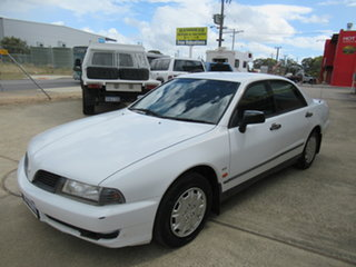 2001 Mitsubishi Magna TJ V6 Si Executive White 4 Speed Automatic Sedan.