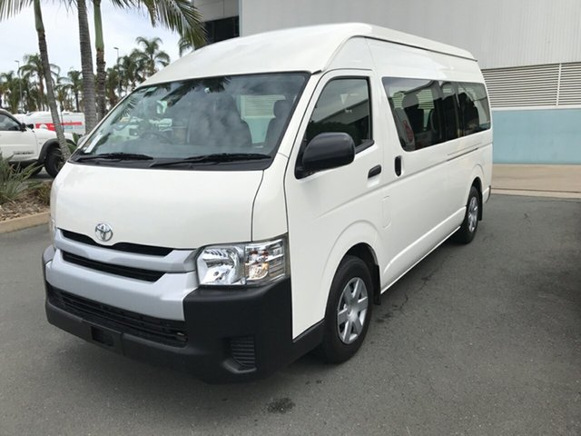 Used Toyota HiAce TRH223R Commuter High Roof Super LWB Acacia Ridge, 2017 Toyota HiAce TRH223R Commuter High Roof Super LWB French Vanilla 6 speed Automatic Bus