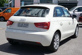 2014 Audi A1 8X MY14 Attraction Sportback S Tronic White 7 Speed Sports Automatic Dual Clutch