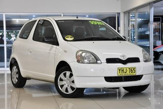 2001 Toyota Echo NCP10R White 4 Speed Automatic Hatchback.