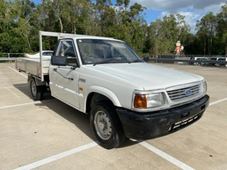 1998 Ford Courier XL White 5 Speed Manual Cab Chassis.