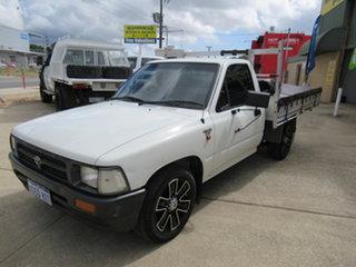 1995 Toyota Hilux LN86R - White 5 Speed Manual Utility.