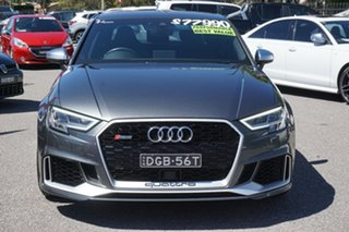 2017 Audi RS 3 8V MY17 S Tronic Quattro Grey 7 Speed Sports Automatic Dual Clutch Sedan.