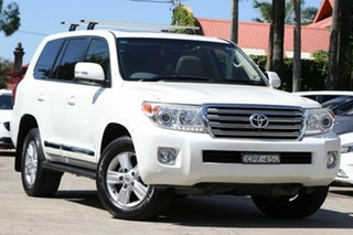 2013 Toyota Landcruiser VDJ200R MY13 Sahara Crystal Pearl 6 Speed Sports Automatic Wagon.