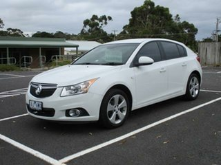 2014 Holden Cruze JH Equipe White Automatic Hatchback.