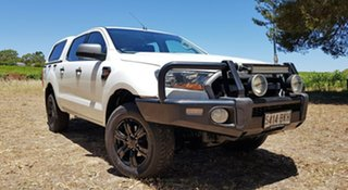 2015 Ford Ranger PX XLS Double Cab Cool White 6 Speed Manual Utility.