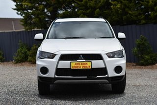 2011 Mitsubishi Outlander ZH MY11 LS 2WD White 6 Speed Constant Variable Wagon.
