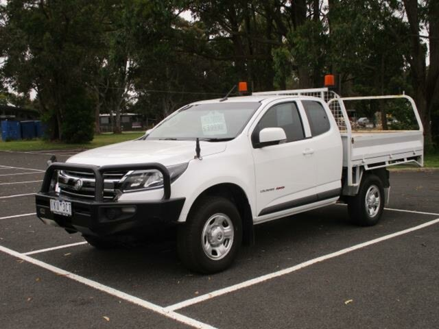 Used Holden Colorado RG Timboon, 2017 Holden Colorado RG LS 4x4 White Automatic SPACE CAB CHAS