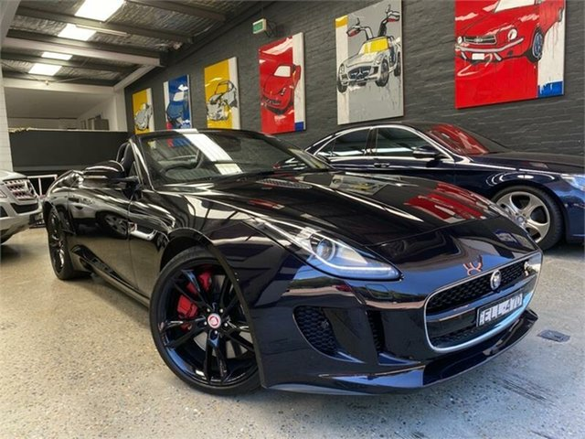 Used Jaguar F-TYPE X152 S Glebe, 2014 Jaguar F-TYPE X152 S Black Sports Automatic Convertible