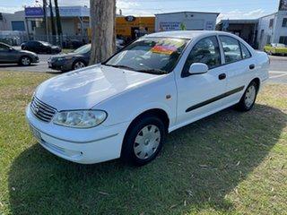 2004 Nissan Pulsar N16 MY2004 ST White 4 Speed Automatic Sedan.