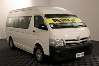 2011 Toyota HiAce TRH223R MY11 Commuter High Roof Super LWB French Vanilla 4 speed Automatic Bus.