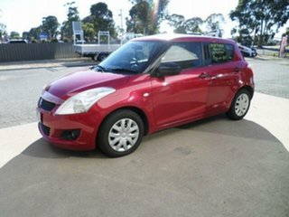 2011 Suzuki Swift FZ GA Red 5 Speed Manual Hatchback.