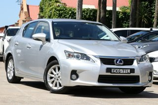 2012 Lexus CT 200H. Hybrid ZWA10R 13 Upgrade Prestige Silver Continuous Variable Hatchback.