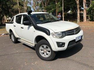 2013 Mitsubishi Triton MN MY13 GLX (4x4) White 5 Speed Manual 4x4 Double Cab Utility.