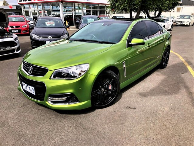 Used Holden Commodore VF MY14 SS V Redline Seaford, 2014 Holden Commodore VF MY14 SS V Redline Green 6 Speed Manual Sedan