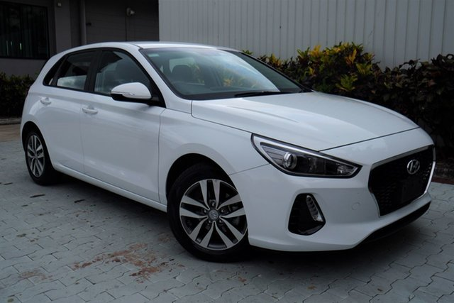 Used Hyundai i30 PD2 MY19 Active Cairns, 2019 Hyundai i30 PD2 MY19 Active White 6 Speed Sports Automatic Hatchback