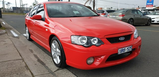 Used Ford Falcon BF XR6 Cheltenham, 2005 Ford Falcon BF XR6 Red 4 Speed Sports Automatic Sedan