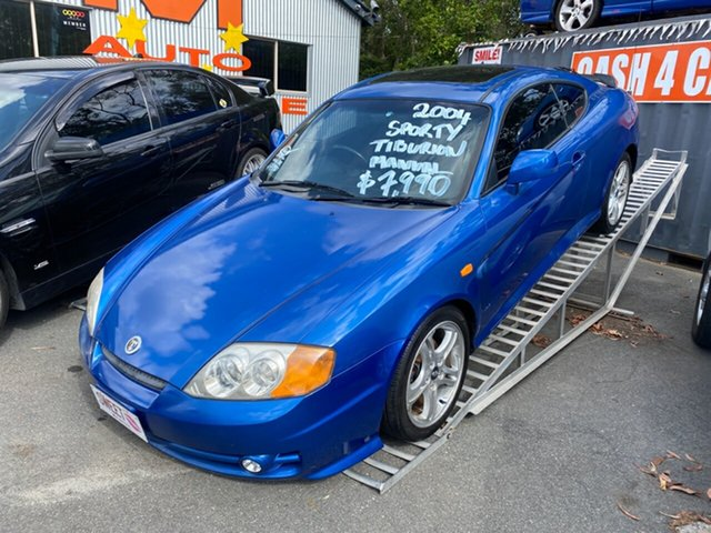 Used Hyundai Tiburon V6 Morayfield, 2004 Hyundai Tiburon V6 Blue 6 Speed Manual Coupe