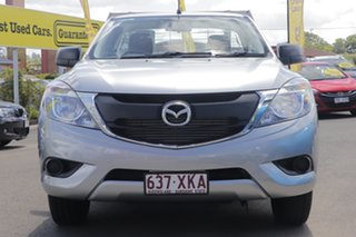 2017 Mazda BT-50 UR0YE1 XT 4x2 Silver 6 Speed Manual Cab Chassis.