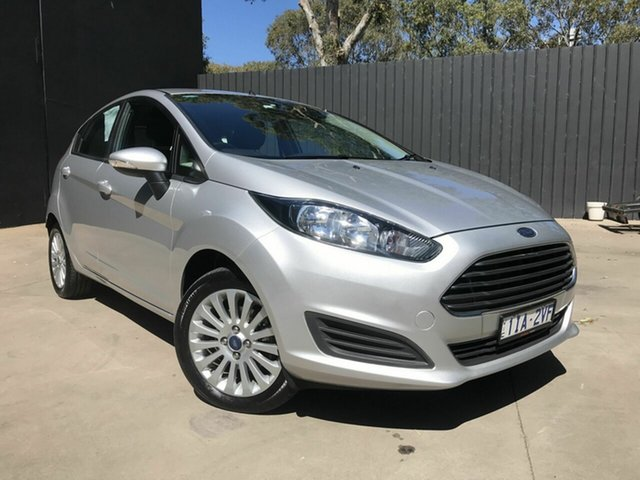 Used Ford Fiesta WZ Ambiente Fawkner, 2016 Ford Fiesta WZ Ambiente Silver 6 Speed Automatic Hatchback