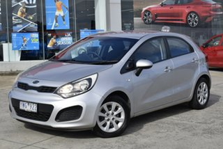 2012 Kia Rio UB MY12 S Silver 6 Speed Manual Hatchback.