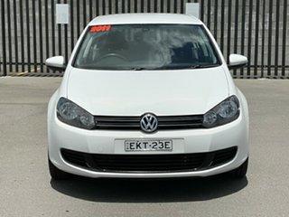 2011 Volkswagen Golf VI MY11 103TDI DSG Comfortline White 6 Speed Sports Automatic Dual Clutch.