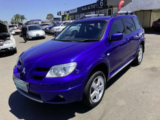 2006 Mitsubishi Outlander ZF MY06 VR Blue 4 Speed Auto Sports Mode Wagon