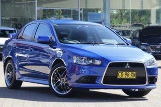 2013 Mitsubishi Lancer CJ MY13 ES Sportback Blue 6 Speed CVT Auto Sequential Hatchback.