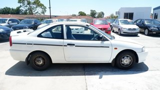 1998 Mitsubishi Lancer CE GLi White 4 Speed Automatic Coupe