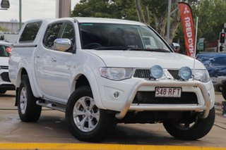 2009 Mitsubishi Triton MN MY10 GLX-R Double Cab White 5 Speed Manual Utility